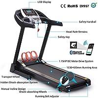 Preisvergleich für Pairkal Elektrisch Laufband 3.5HP Elektrisches Fitnessgerät mit Bluetooth Control App Heimtrainer mit LCD Bildschirm für Gym, Haus, Büro Trainingsgeräte