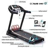 Pairkal Elektrisch Laufband 3.5HP Elektrisches Fitnessgerät mit Bluetooth Control App Heimtrainer...
