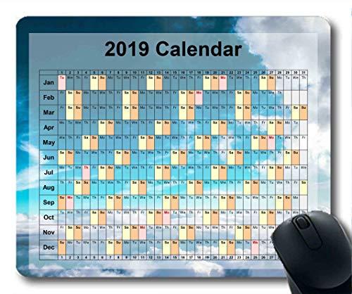 2019 Kalender-Mauspads, Mauspad, Sternenhimmelkunst Gaming-Mauspad