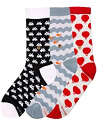 The Moja Club - Women's Quirky, Funky Socks (Ankle + Crew Length) - [Pack of 3] - SEE PACK OPTIONS