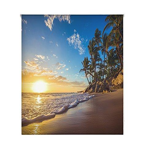HappyStor HSCP7231 Estor Enrollable Estampado Digital Paisajes Tejido Traslúcido Medida Total Estor:85x180 (**Solo Ancho Tela:81-82cm.**)