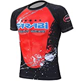 MMA rash guard compression top gym training body armour BJJ base layer (MEDIUM)