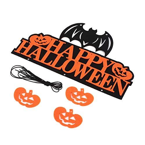 Halloween Maske gruselige Gesichtsmaske Happy Halloween Banner Kürbis hängende Flaggen Ornament Party Wall ()