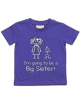 I' m Going To Be A Big Sister Maglietta viola Baby per bambini disponibile in taglie 0–6mesi a 14–15anni...