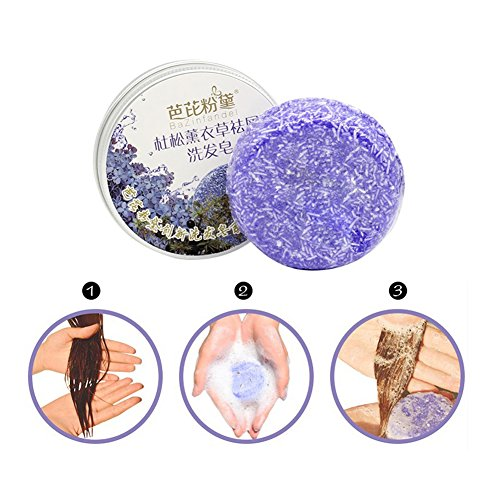 Weicici Soap Bar Has Chamomile Mint Jasmine Lavender Cinname Shampoo 100% Natural 60g