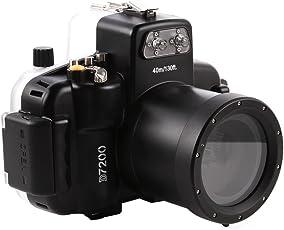 Market&YCY 40m/130 ft Unterwasser Digitalkamera Unterwasserfotografie Kamera Wasserdicht Gehäuse, Für Nikon D7200 Leicht Bedienbar