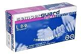 SEMPERGUARD - Guantes desechables de látex, sin talco, talla XL (9-10), 90 ud. por caja