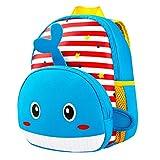 Kinderrucksack Animal Schule Tasche Rucksack for Kinder Baby Jungen Mädchen Kleinkind 2-6 Alter Baby-Lunchbox (Wal)