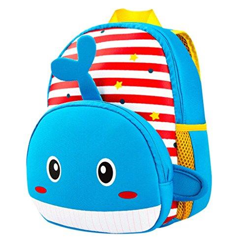 Kinderrucksack Animal Schule Tasche Rucksack for Kinder Baby Jungen Mädchen Kleinkind 2-6 Alter Baby-Lunchbox (Wal) (Baby Lunch Box)