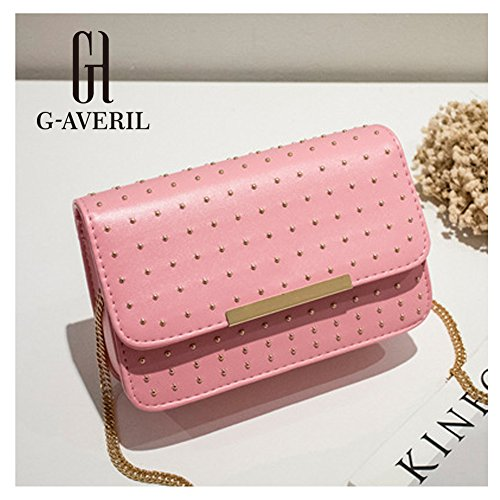 G-AVERIL, Borsa a mano uomo Nero Black Pink