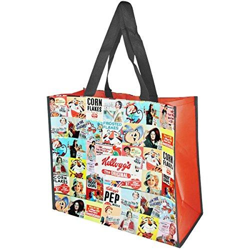 Promobo - Sac Cabas Pour Courses Shopping Licence Kellogg's Corn Flake Mosaique