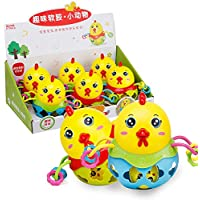 Wudi 1PC del traqueteo del bebé de la Bola Shake and Roll Bola del Juguete del bebé del niño de la Mano Agarre Catch Sacudiendo Campanas (Polluelo de la Bola)