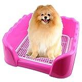 Legendog Toilette per Cani, Lettiera per Cani Vaso per Cani di Alta Recinzione Portatile in Rete Addestramento dell Animale Domestico Toilette per Cane Gatto