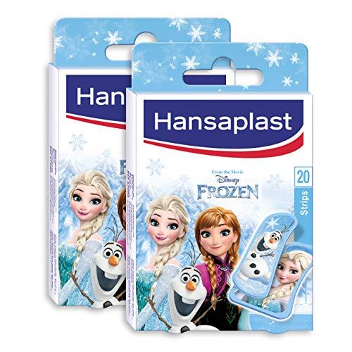 Hansaplast Frozen Kinderpflaster, Wundpflaster mit den Lieblingsmotiven aus Frozen, schmerzlos zu entfernendes Pflaster Set, 2 x 20 Stück