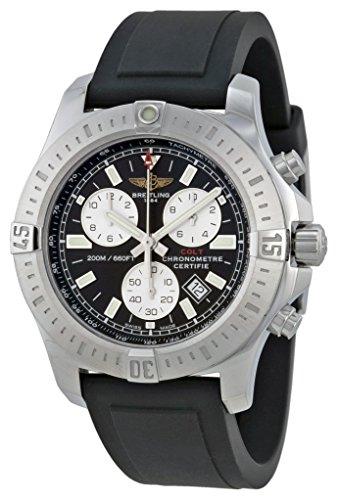 Breitling, Colt A7338811-BD43 - Orologio cronografo da uomo, cinturino in gomma, colore: Nero