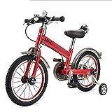 TX Mini-Bicicletta Pieghevole per Bambini da 16 Pollici Ragazzi E Ragazze Utilizzano Ruote Ausiliarie in Lega di Alluminio Ad Altezza Regolabile,Rosso