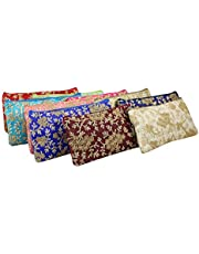 GoldGiftIdeas Trims Vintage Zippered Potli Purse for Women, Return Gifts for Housewarming, Potli Bags for Ladies, Ethnic Potli Purse for Wedding, Shagun Potlis