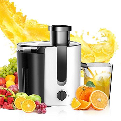 Aigostar Grape 30JDA - Entsafter (1.4L Fruchtfleischbehälter und 500ml Saftbehälter, 400W, Edelstahl Trennscheiben ,Juicer 2 Geschwindigkeiten )