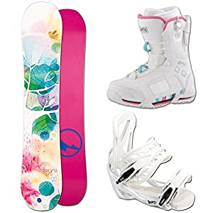 Unbekannt Snowboard Set Trans LTD Tree 139 cm + ELFGEN Team SMO White M + Boots