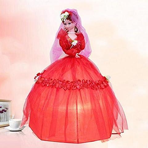 LXXJJ Principessa Camera ombrello, lampada bambino lampada da tavolo - Principessa Pieghevole Tavolo