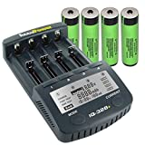 AccuPower 18650 Akku Ladegerät IQ328+ inkl. 4X Panasonic NCR18650B geschützt