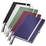 Leitz - Agenda con 80fogli, 2segnalibri, carta avorio da 100g/mq A quadretti A5 Hard Cover Assorted Pack 5