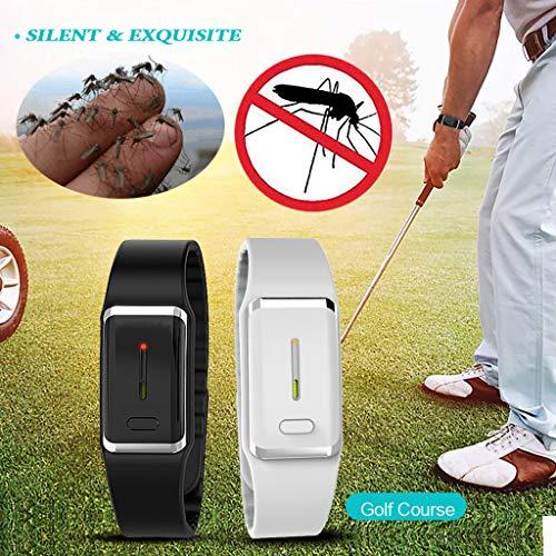 Muium Mückenschutz Armband, Physikalisches Nicht-Drogen Anti mücken Armband natürlichen Anti Mückenarmband Mücken Gürtel für Kinder geeignet, Erwachsene Indoor und Outdoor Camping (Schwarz)