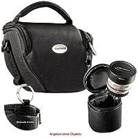 MANTONA VARIO DUO Formato M colore nero Borsa fotografica sistema compatto con tracolla e custodia lenti separata ad esempio per Panasonic DMC GX8 -- Fujifilm X-ES2 etc.