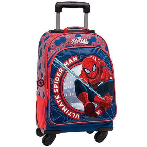 Trolley da Viaggio Big Ultimate Spiderman con 4 Ruote Manico Estensibile