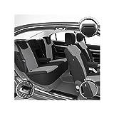 DBS 1011902 Fundas de Asientos de Coche - A Medida - Acabado de Coche de Alta Gama - Instalación Rápida - Compatible Airbag - Isofix