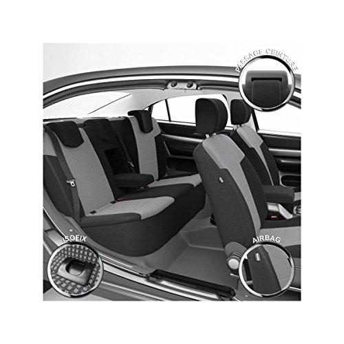 DBS 1011539 Coprisedili Auto/Vettura - Su Misura - Rifinizioni Alta Gamma - Montaggio Rapido - Compatibile Airbag - Isofix
