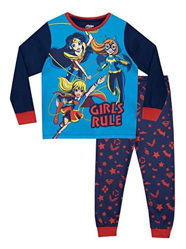 cc5c3b9c8f DC Comics Pijamas de Manga Larga para Niñas DC Superhero Girls Azul 12-13  Años