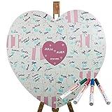 Geschenke 24: Holz Puzzle Herz zum Beschriften - kreative Hochzeitsgeschenke selber gestalten - ein schönes Hochzeitsspiel für das Brautpaar