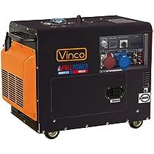 Generador Diesel silenziato 5,5 KW 60230 Full Power monofásico ...