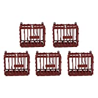 IPOTCH 5 Pieces Animal Cage Small Hamster Bird Cage Guinea Pig DIY Animal Cage
