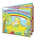 Números en la jungla para bebé, diseño flotante, juguete de baño educativo y divertido para bebés