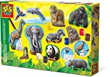 SES Creative - Set para moldear y Pintar Animales, (01132)
