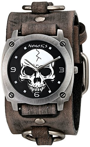 Nemesis 926FRB - Reloj de pulsera hombre, piel, color Gris