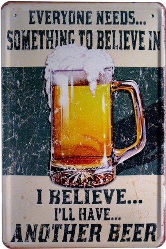 Targa in metallo Beer Birra pubblicità 20x 30cm reklame Retro Targa in 972
