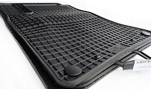 kh Teile Gummimatten Original Qualität Gummi Fußmatten 4-teilig schwarz (Mercedes E-klasse Fußmatte)