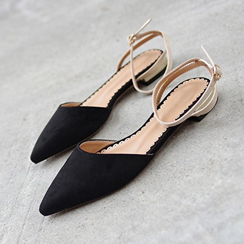 DIDIDD Baotou Scarpe da Fata Rosse a Rete Moda Retrò a Punta,Nero,35 | Diversificate Nella Confezione  | Scolaro/Ragazze Scarpa