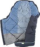 PRIEBES JENS Universal Winter Fußsack für Kinderwagen & Buggy | Länge 100 cm | komplett abnehmbares Fußteil | Reflektierende Sicherheitsstreifen | Kordel für Mumien-Kapuze | atmungsaktiv & warm, Design:stars denim