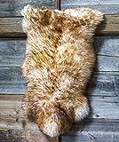 ESTRO Tappeto in Pelle di Pecora per La Casa Pelliccia Peloso ESZ (Fiammato, 130 cm)