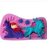 Chinget Silikon Fondant Schokolade Schimmel Kuchen Dekor Icing Sugarcraft Schimmel 3D Weihnachts Motiv