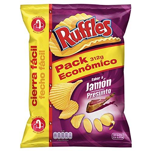 Ruffles Patatas Fritas con Sabor a Jamón - 312 g