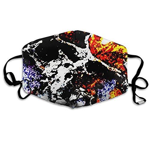 Kostüm Zähne Kopfbedeckung - Monicago 100% Polyester Maske - Asthma/Allergie Luftfilter Staubmaske mit Keimtötung antimikrobiell Ideal für Schleifen & Trockenbau, Renovierung & Bau Pollen-Allergie Galaxie-Zähne
