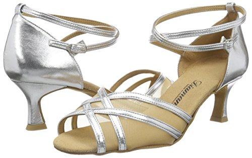 Diamant Damen Latein Tanzschuhe Standard Latein Silber 035-077-013 - 5