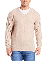 Peter England Mens Sweater (8907495563602_PSW51601157_Small_Medium Ivory with Black)
