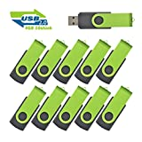4GB Usb Sticks Einklappbarer USB 2.0 Transmemory Memory Stick, 10 stück Grün