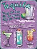 Tequila cocktails estilo Vintage placa metálica para la pared placa Shabby Chic Retro de imagen cocina Decor